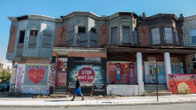 1476, 1478 and 1480 Louis St. in Camden's Whitman Park section are ticketed for demolition, along with 58 other nearby properties.