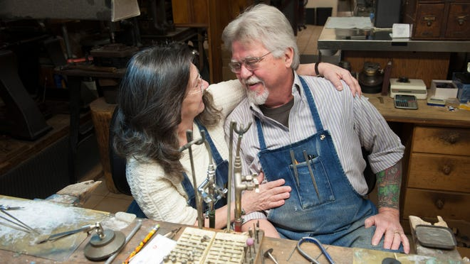 George and Melinda Wise, owners of Wise Family Quality Jewlers in Haddon Heights, for at work column. Wednesday, January 14, 2014.