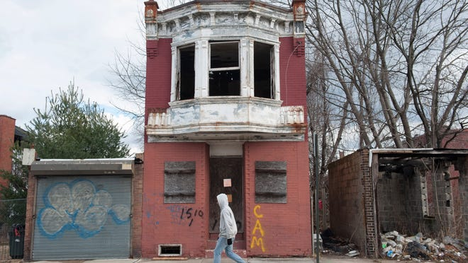 Property at 1510 Louis St. in Camden is set to be demolished tomorrow. Monday, January 19, 2015.