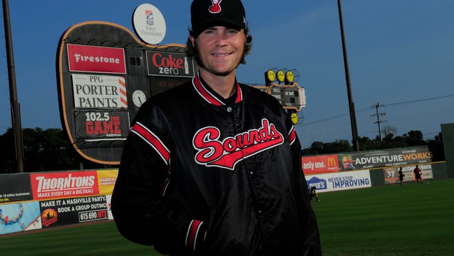 Tim Dillard, who has played in Nashville for eight seasons, has worn the Sounds uniform more than any other player in team history.