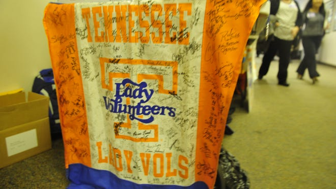 Former University of Tennesseee athletes attended Lady Vols Day on the Hill to protest plans to change the nickname of the women's teams, except for basketball, from Lady Vols to Volunteers.