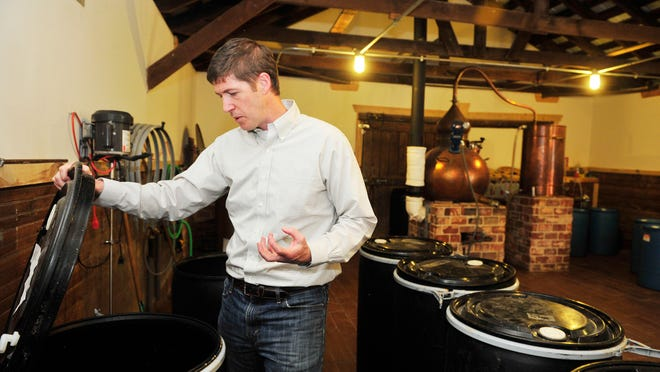 Heath Clark has been busy getting H. Clark Distillery off the ground. He spent three years renovating and restoring a 100-year-old, 1,200-square-foot granary building in Thompson's Station, where he now operates his distillery, which will hold its grand opening May 1.