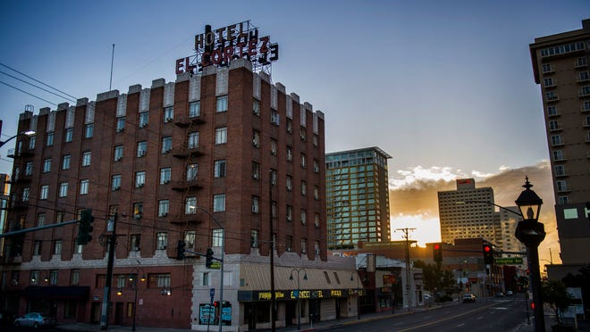 The El Cortez Hotel in downtown Reno. Exterior work is on hold while the new owner gets approval from the city of Reno's Historical Resources Commission.