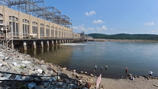 Michael Helfrich, of Lower Susquehanna Riverkeeper, is pictured at the Conowingo Dam. He is raising concern that silt and nutrient pollution attached to the sediment buildup at the dam could undermine restoration effort of the Chesapeake Bay.
