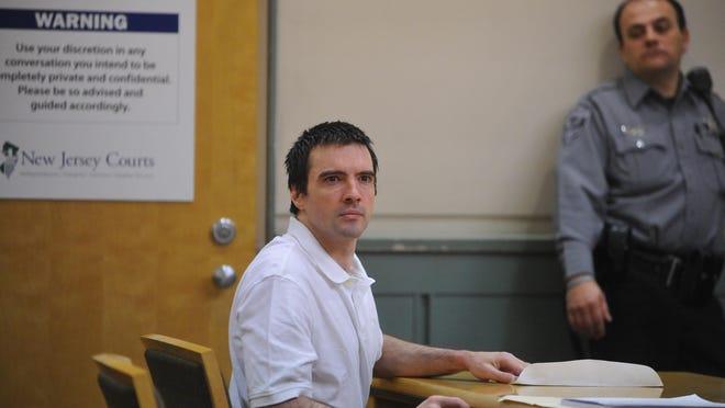 Dreu Ferguson Jr. looks at Judge Robert Malestein at the beginning of the trial in Cumberland County Superior Court in Bridgeton.