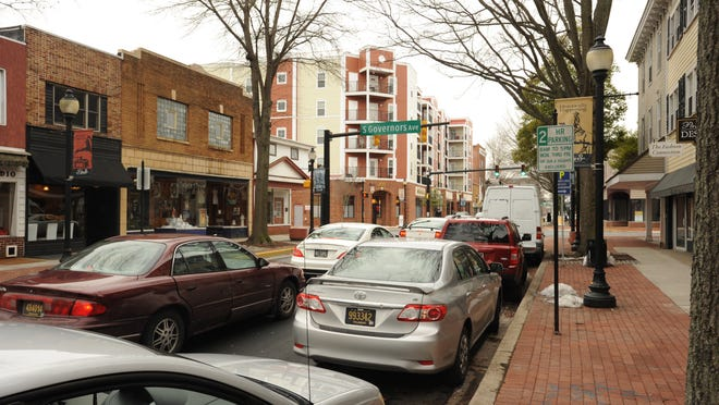 Cars are parked in Downtown Dover in 2015. Parking issues will be discussed at a public meeting Wednesday.