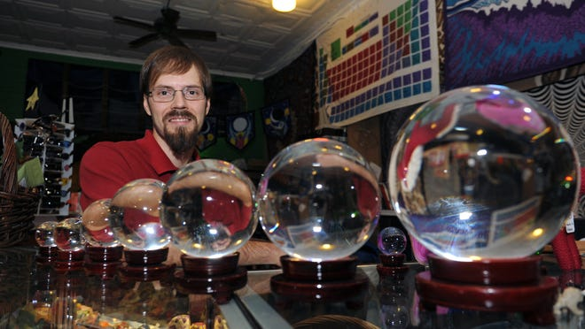 Jim Campsey is co-owner of Gemini's Eclectic Emporium, at 522 Market St., which offers myriad items, including original artwork, psychedelic wall tapestries and various other novelty items.