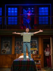 """A scene from """"Trevor the Musical,"""" in which a 13-year-old"""