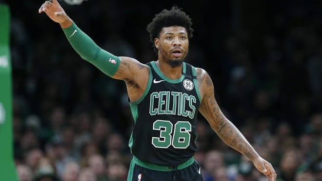 Boston's Marcus Smart is healthy and excited to get back on the court for the Celtics.