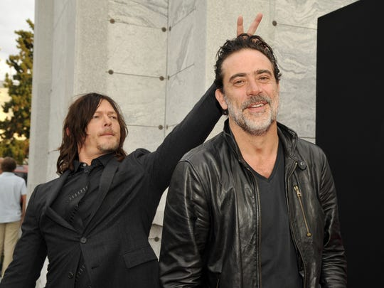 Jeffrey Dean Morgan, right, says he's made friends