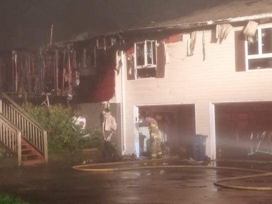 This home on Spencer Drive was ravaged by a fire overnight