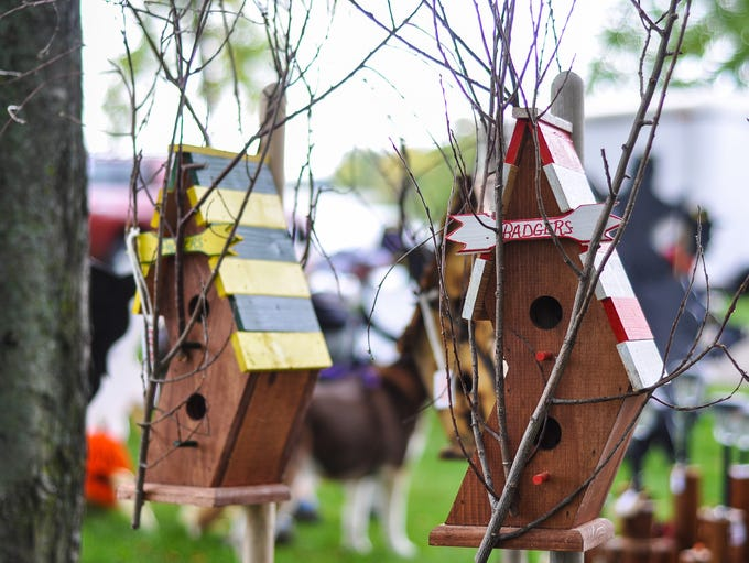 Numerous artists displayed their work at Art in the Park Saturday at Pfiffner Pioneer Park.