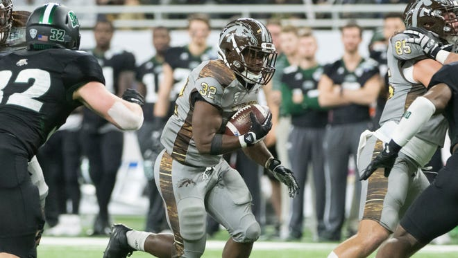 Western Michigan running back Jamauri Bogan  averages 5.3 yards a carry.