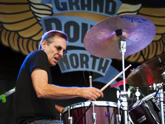 Russ Lawton, from the band Soule Monde, performs during day two of the Grand Point North music festival on Saturday September 12, 2015 in Burlington.