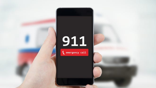 Getty Images Call 911 to get medical help on the way fast. The dispatcher will be able to tell you what to do quickly and effectively. Man calling emergency. Ambulance in background. emergency call 911 aid man concept