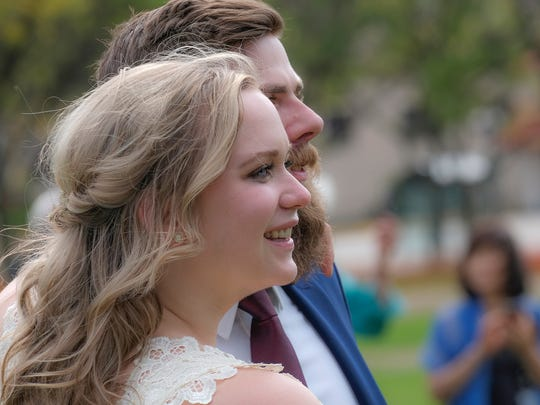 Newlyweds Jordan and Carlyn Kimmey decided to skip a traditional wedding reception and held Til Death Fest at Adado Riverfront Park Saturday, October 7, 2017. The event featured live local bands, local food and local vendors.