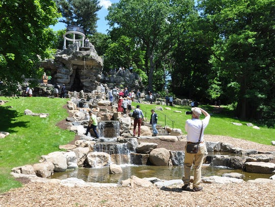 The newly renovated Temple of Love at Untermyer Gardens