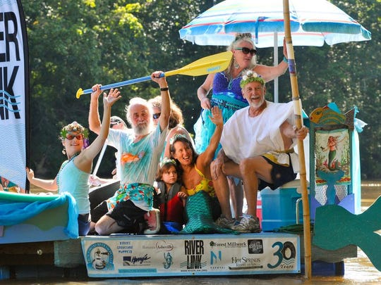 Scenes from the Anything That Floats Parade on Saturday, August 13, 2016 at Hominy Creek Park in Asheville.