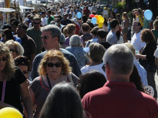 Crowds attend the annual Thousand Oaks Rotary Street Fair. This year's event is Sunday.