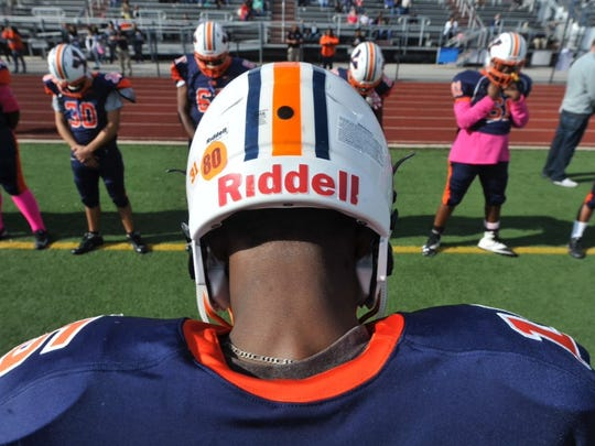 The William Penn football team honored Eugene Hillian with a No. 80 helmet decal on Saturday.