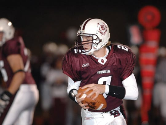 Matt Simms during his days as the Don Bosco quarterback.