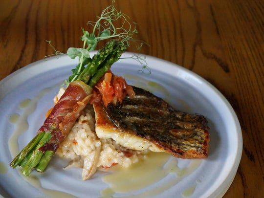Pan-seared Australian barramundi is a mouthwatering
