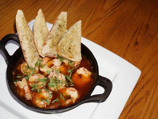 Spicy garlic shrimp from Fathoms.