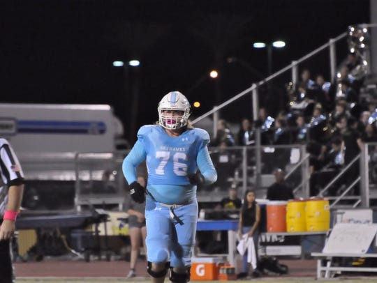 Deer Valley offensive lineman Joey Ramos has all the