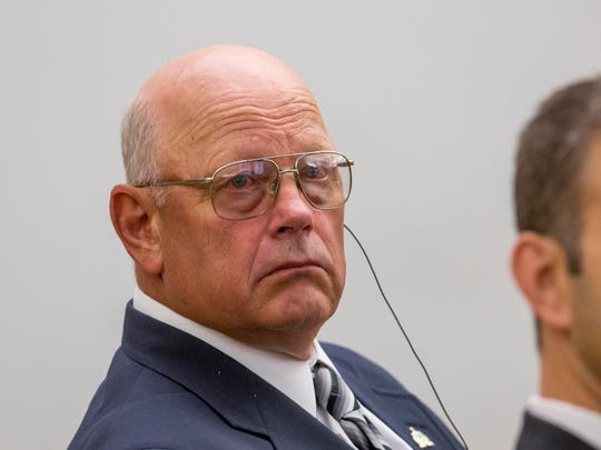 Sen. Norm. McAllister, R-Franklin, at his trial on sexual assault allegations Wednesday, June 15, 2016, in Vermont Superior Court in St. Albans. The charges were dismissed in his first trial, he faces a second trial related to other sex crime charges.