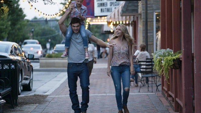 """Alex Roe with Abby Ryder Fortson and Jessica Rothe in """"Forever My Girl."""""""