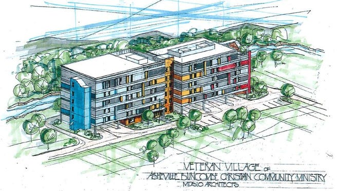 Veterans Village in East Asheville will be North America's biggest building made from cross-laminated timber, said architect Crawford Murphy with MDS10 Architects in Asheville.