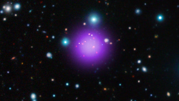 The most distant galaxy cluster -- some 11.1 billion