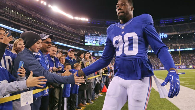 Giants defensive end Jason Pierre-Paul before he was sidelined by surgery in December.