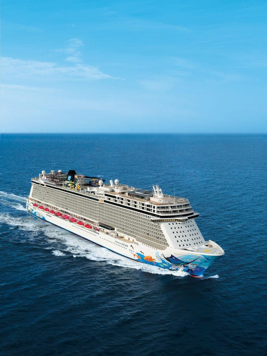 Giant New Norwegian Cruise Lines Ship on Maiden Voyage