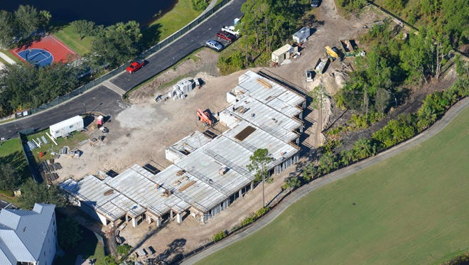 A new three-story building is under construction at the Hyatt Residence Club Bonita Springs, Coconut Plantation. The building will house 24 units and is located north of the Hyatt's hotel and resort location at the end of Coconut Road.