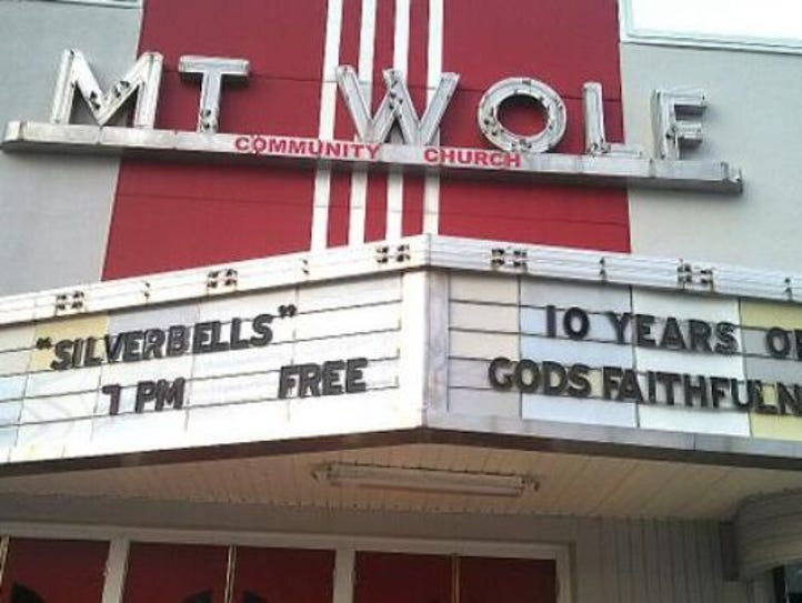 The Mount Wolf theater has a newer use. It is now used