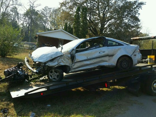 A Chevy Cobalt was damaged after a 9-year-old boy took