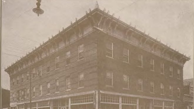 An undated photo of Calisher's Dry Goods Company. The store, at the northwest corner of Texas Avenue and Mesa Street, burned in a spectacular fire in August 1910, and in the aftermath, the mayor and a firefighter were killed by a collapsing wall.