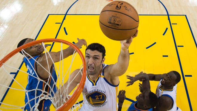 Former Milwaukee Bucks center Zaza Pachulia is in his first season with Golden State.
