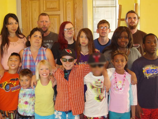The Charlebois family has fostered and/or adopted 35 children.