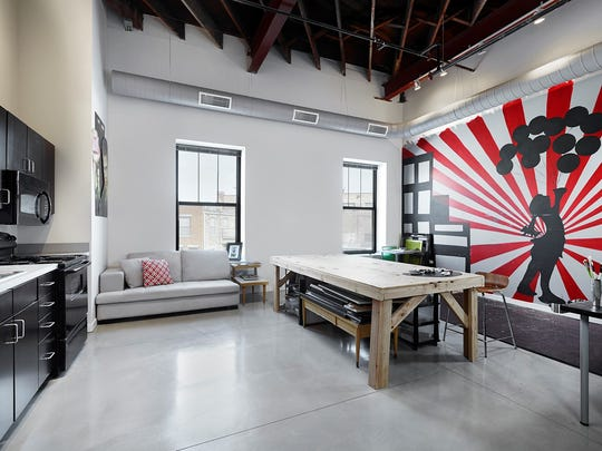 A live/work space designed by Artspace in Elgin, Ill., is displayed.