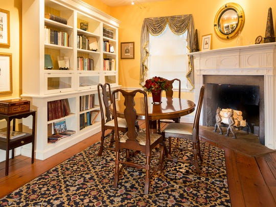 Housed in the small parlor of the 1813 wing of the