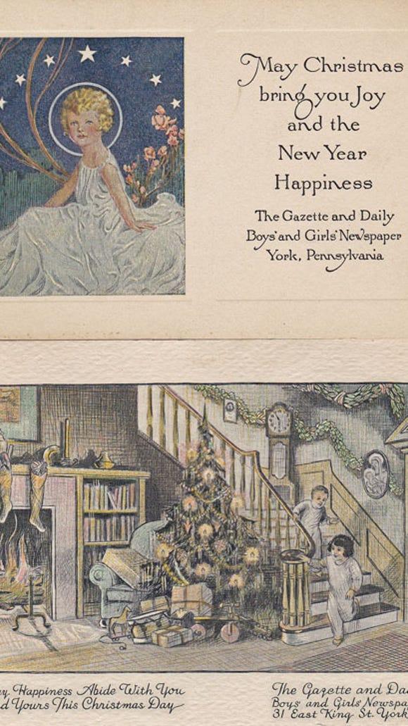 Boys' and Girls' Newspaper Christmas Cards