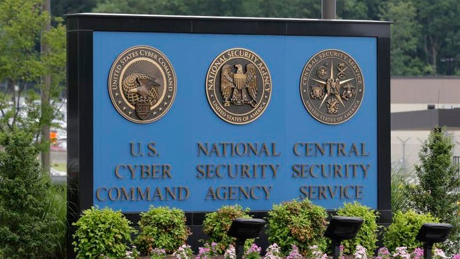 The National Security Agency campus is inside Fort Meade, Md.