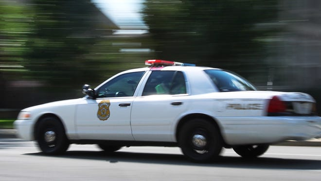 An Indianapolis Metropolitan Police Department cruiser on patrol.