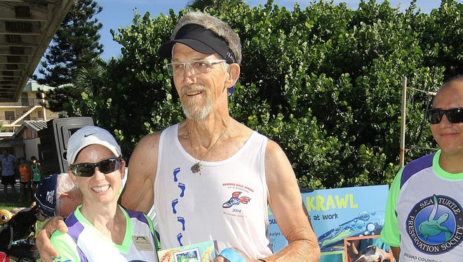 Lisa and David Farrall are competitive walkers who take their sport seriously.