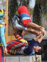Acrobats at the Riverdale Kiwanis Medieval Faire