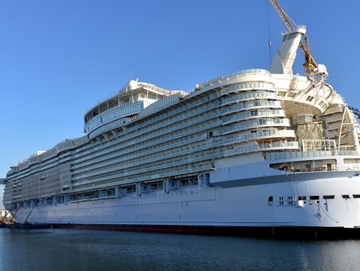 The exterior of Royal Caribbean's soon-to-debut Symphony