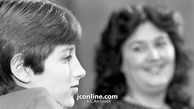 Ryan White and his mother, Jeanne, have filed a $2 million suit. Photo taken March 15, 1985.