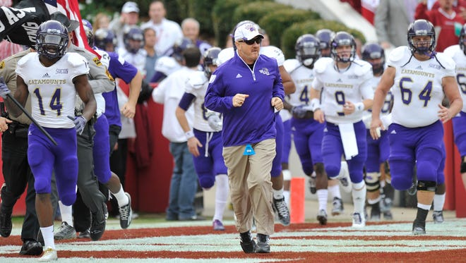 Coach Mark Speir led the Catamounts to a 26-14 win over Wofford last season, snapping a string of eight straight losses to the Terriers.